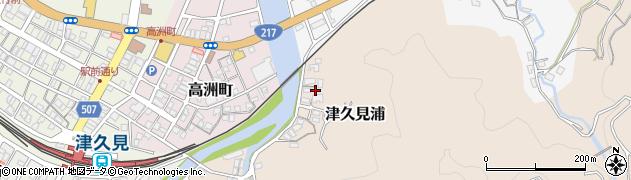 大分県津久見市岩屋町14周辺の地図