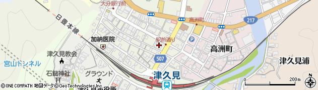 大分県津久見市中央町18周辺の地図