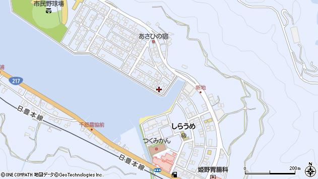 大分県津久見市千怒5124周辺の地図
