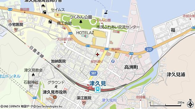 大分県津久見市中央町28周辺の地図