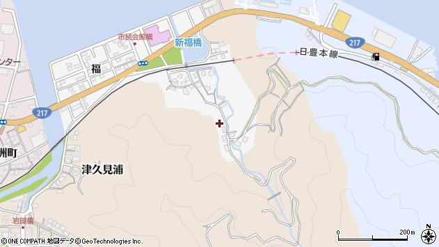 大分県津久見市津久見浦3597周辺の地図