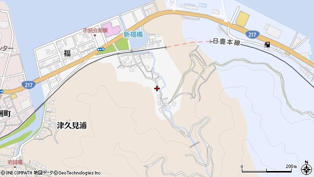 大分県津久見市津久見浦3541周辺の地図