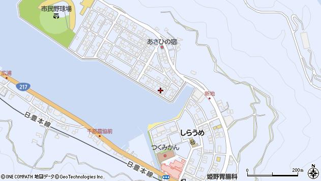 大分県津久見市千怒5126周辺の地図