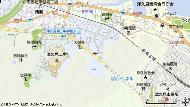 大分県津久見市元町4周辺の地図