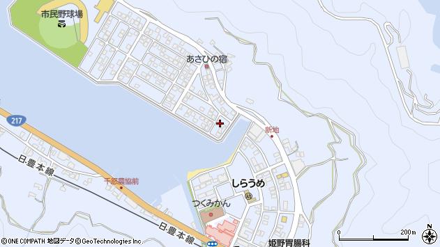 大分県津久見市千怒5112周辺の地図