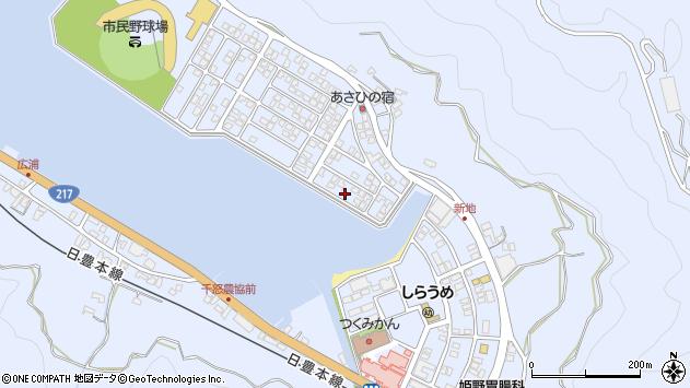 大分県津久見市千怒5128周辺の地図