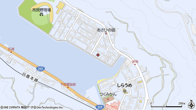 大分県津久見市千怒5130周辺の地図