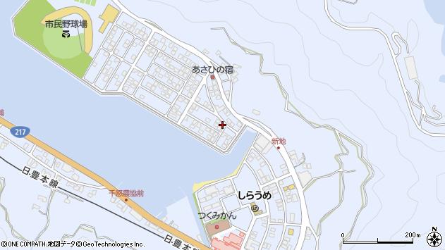 大分県津久見市千怒5096周辺の地図