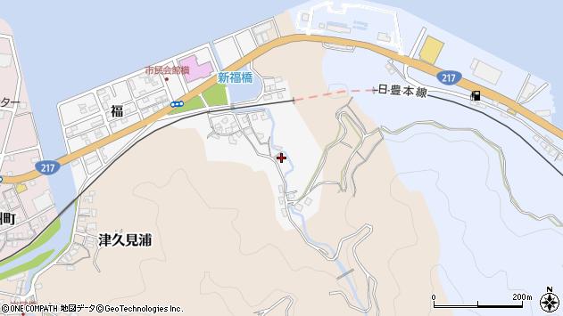 大分県津久見市津久見浦3547周辺の地図