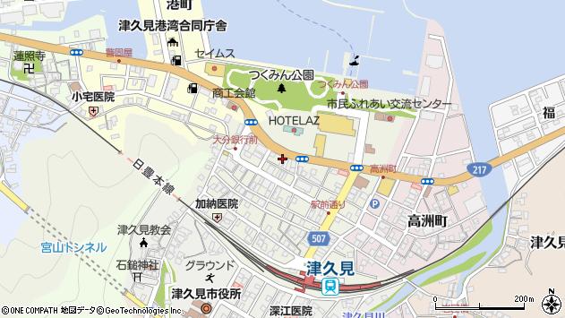 大分県津久見市中央町26周辺の地図