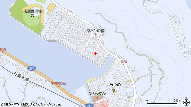 大分県津久見市千怒5105周辺の地図
