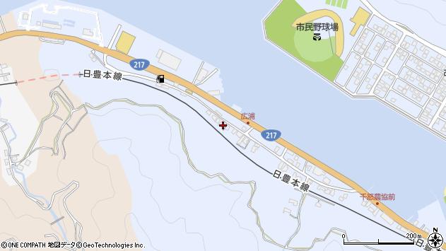 大分県津久見市千怒108周辺の地図