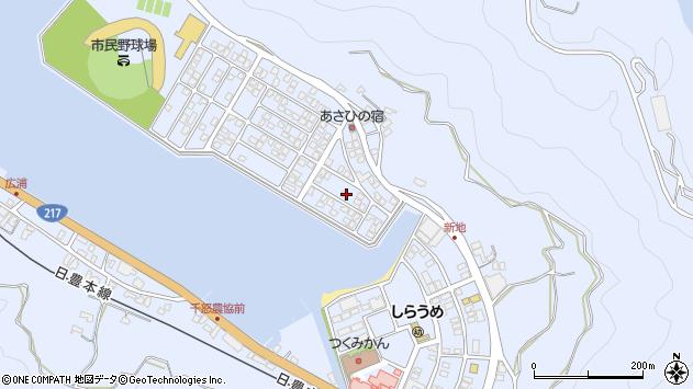 大分県津久見市千怒5106周辺の地図