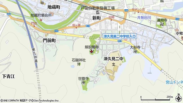 大分県津久見市下青江周辺の地図