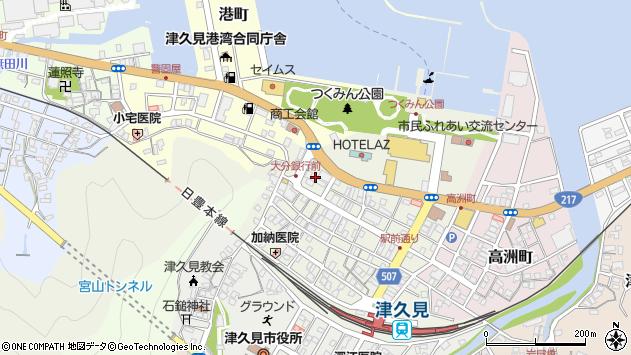 大分県津久見市中央町24周辺の地図