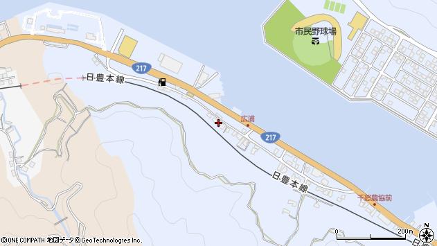 大分県津久見市千怒105周辺の地図