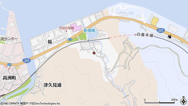 大分県津久見市津久見浦3601周辺の地図