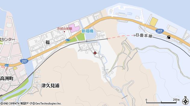 大分県津久見市津久見浦3611周辺の地図