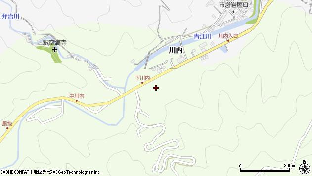 大分県津久見市上青江5987周辺の地図