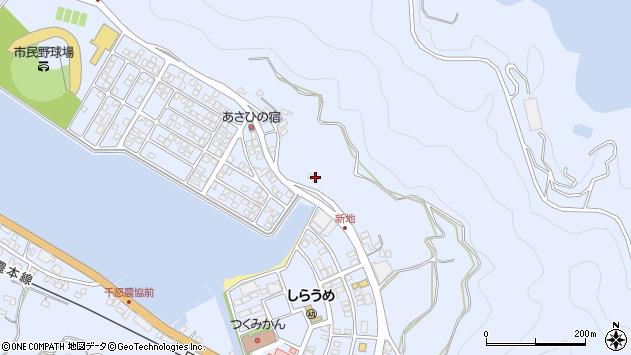 大分県津久見市千怒4700周辺の地図