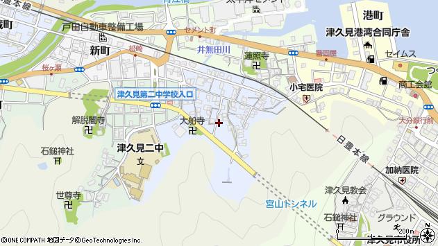 大分県津久見市元町5周辺の地図