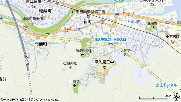 大分県津久見市井無田町12周辺の地図