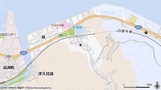 大分県津久見市津久見浦3599周辺の地図
