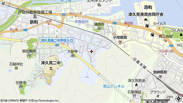 大分県津久見市元町3周辺の地図