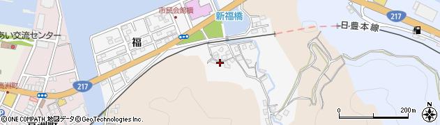 大分県津久見市津久見浦3592周辺の地図