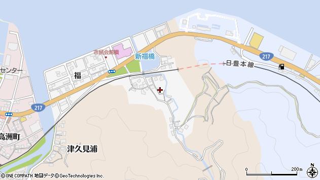 大分県津久見市津久見浦3622周辺の地図