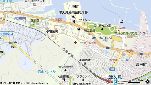 大分県津久見市港町4周辺の地図