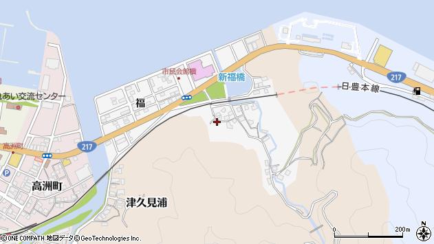 大分県津久見市津久見浦3589周辺の地図