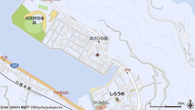 大分県津久見市千怒5090周辺の地図
