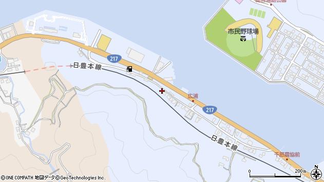 大分県津久見市千怒96周辺の地図