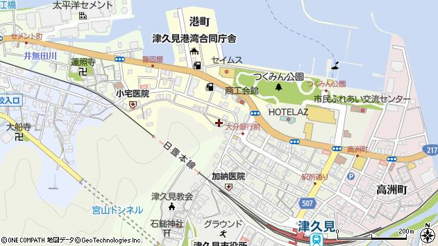 大分県津久見市港町3周辺の地図