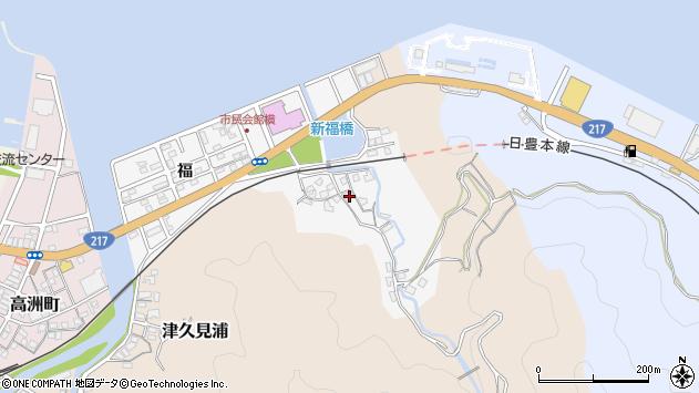 大分県津久見市津久見浦3613周辺の地図