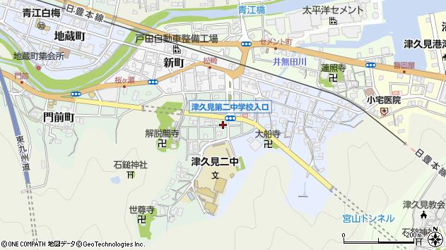 大分県津久見市井無田町7周辺の地図