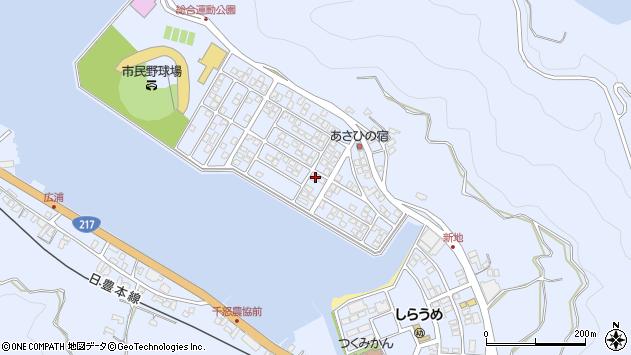 大分県津久見市千怒5202周辺の地図