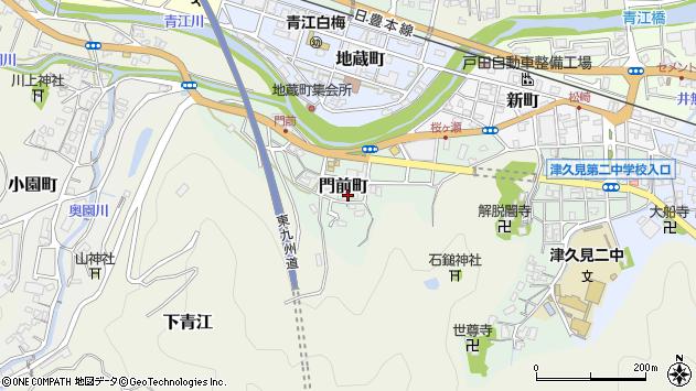 大分県津久見市門前町7周辺の地図