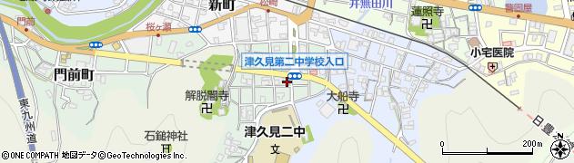 大分県津久見市井無田町周辺の地図