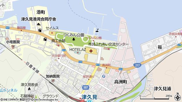 大分県津久見市中央町760周辺の地図