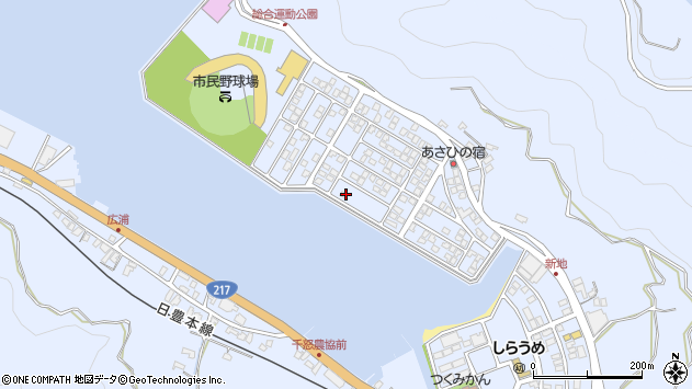 大分県津久見市千怒5248周辺の地図