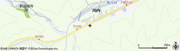 大分県津久見市上青江5956周辺の地図
