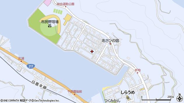 大分県津久見市千怒5218周辺の地図