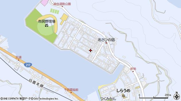 大分県津久見市千怒旭町周辺の地図