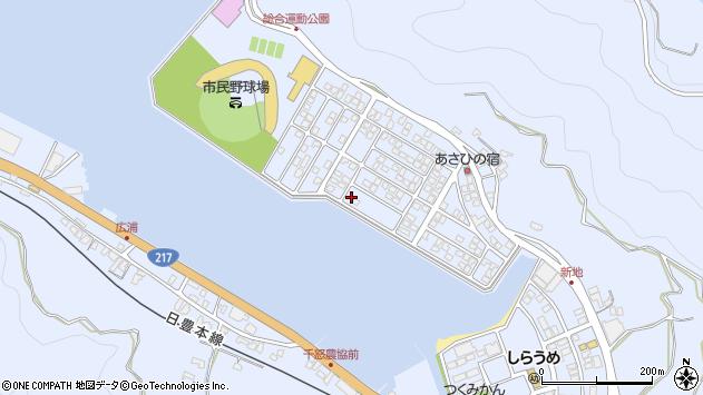 大分県津久見市千怒5249周辺の地図