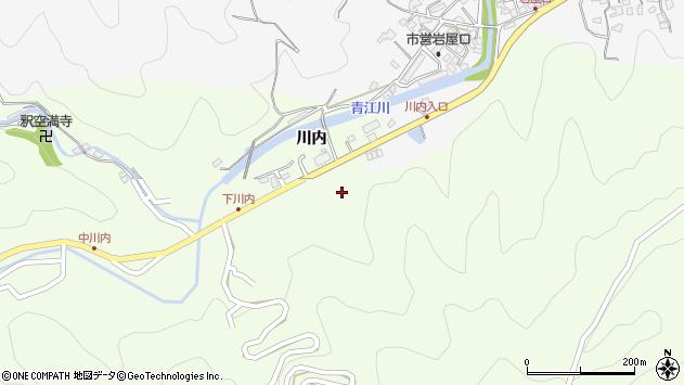 大分県津久見市上青江5944周辺の地図