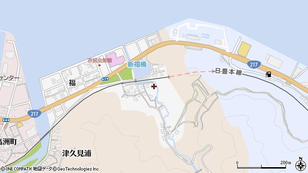 大分県津久見市津久見浦3633周辺の地図