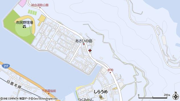 大分県津久見市千怒5059周辺の地図