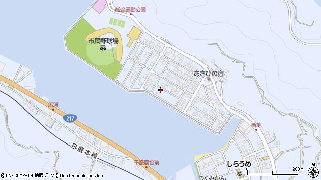大分県津久見市千怒5237周辺の地図